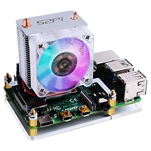 GeeekPi Ice Tower CPU Lüfter Ice Tower Lüfter für Raspberry Pi 4 Modell B & Raspberry Pi 3B + & Raspberry Pi 3 Modell B