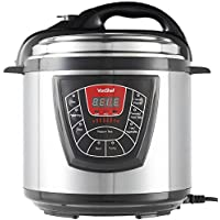VonShef 8-in-1 Pressure Cooker - Electric Stainless Steel Cooker with Non-Stick Removable Pot – Cuts Cooking Time of Rice, Poultry, Soup & More – 6L, 1000W