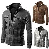 Herren Slim Designed Revers Strickjacke Mantel Jacke Mode Kobay