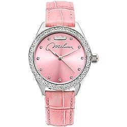 Orologio Miluna Momenti Donna Cristalli Pelle Rosa ORL1000_R30