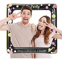 PRETYZOOM Cornice per foto personalizzate Divertente telaio gonfiabile per selfie Decorazione della festa nuziale della doccia di bambino