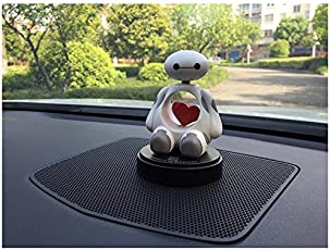 Ramanta® Cute Car Accessories Interior Toys Ornament Bobblehead for Car Decoration Air Freshener Heart Shaking Doll Solid Perfume for Renault KWID, Pack of 1