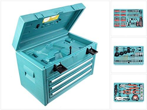 Preisvergleich Produktbild Makita 3-Fach-Schubladenkoffer inkl. 126-teiliger Werkzeug Set für 6260, 6261, 6270, 6271, 6280, 6281, 8270, 8271, 8280, 8281 DWAETC