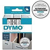 DYMO D1-Etiketten selbstklebend (schwarzer Druck auf weißem Untergrund, 12mm x 7m, für LabelManager-Etikettendrucker, authentisches Produkt)