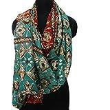 georgette material dupatta vendimia bordado a mano hijab marrón usado sarong piedra indio velo de novia de la bufanda