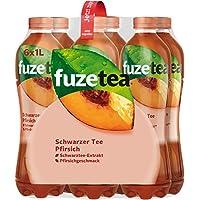 Fuze Tea Schwarzer Tee Pfirsich, (6 x 1,0 l) Einweg