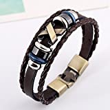 Search : Stunning Cool Leather Bracelet Bangle Vintage Cuff Wristband Rock Punk Biker Bracelet Braided Ropes