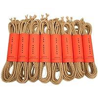 LEX ROPES natura Set Shibari Bondage Juteseil Rope Set 8 teilig je 8 m x 6 mm