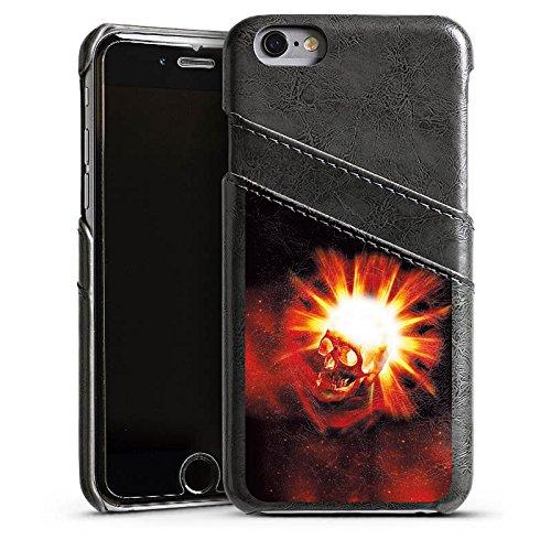 Apple iPhone 4 Housse Étui Silicone Coque Protection Tête de mort Crâne Crâne Étui en cuir gris