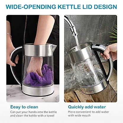 AKZIM-Glas-Wasserkocher-Edelstahl17-Liter-Elektrischer-Wasserkessel-mit-LED-Innenbeleuchtung-Automatische-Abschaltung-Durch-Strix-Contoller-BPA-Frei-berhitzungsschutz-Trockenlaufschutz-2200W