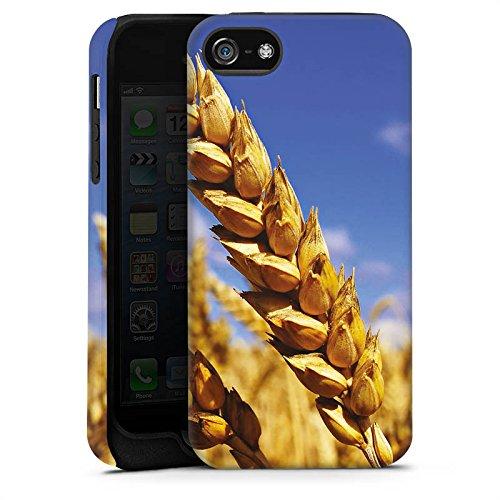 Apple iPhone 4 Housse Étui Silicone Coque Protection Paysage Champ de blé Épi Cas Tough terne