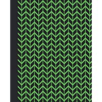 Sketchbook: Geometric Design (Chevron/Green) 8x10 - BLANK JOURNAL WITH NO LINES - Journal notebook with unlined pages for drawing and writing on blank paper