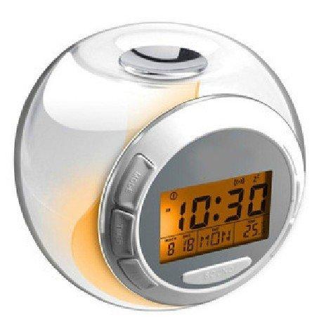 7 Farben Digital LED Farbwechsel LichtWecker Multifunktion Uhr Kalendar Theometer