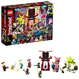 LEGO Ninjago-Il Mercato dei Ninja Gamers Set di Costruzioni con 9 Minifigures: digi Jay, Scott, NYA, Cole, Okino, Pink Zane, Avatar Harumi, Red Visor e Richie, 7 Anni, 71708