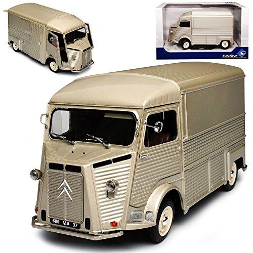 Solido Citroen Type H HY Transporter Silber Kasten 1948-1981 1/18 Modell Auto - Modell Citroen