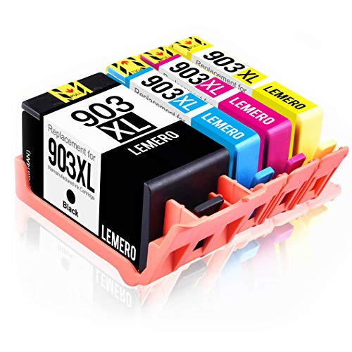 4 LEMERO Kompatibel Druckerpatronen für HP 903XL 903 XL für HP OfficeJet Pro 6860 6868 6960 6970...