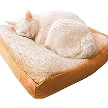 Wishdeal Cama para Gato de Forro Polar Suave 37 x 37 x 6,5 cm