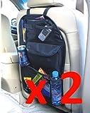 Magic Clover–2x asiento infantil para coche asiento trasero Organizador ordenado almacenamiento Multibolsillos viajes.