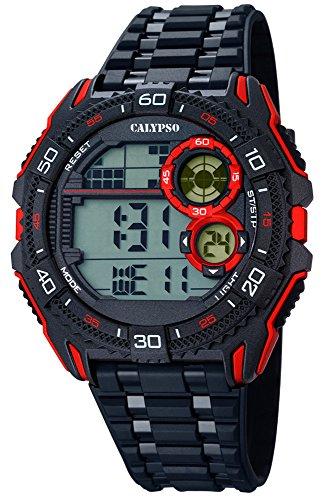 calypso-monsieur-montre-bracelet-quartz-plastique-horloge-avec-bande-de-polyurethane-noir-rouge-digi