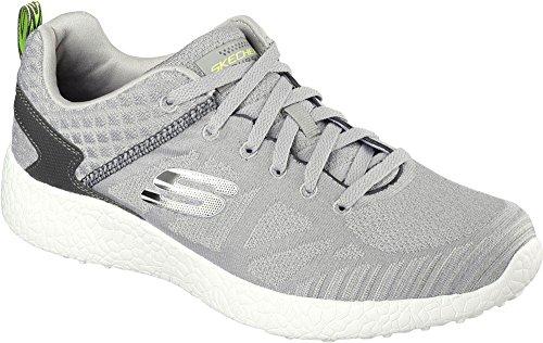 Skechers 52106/LGBK Sneakers Herren Stoff Grau Gris