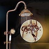 ZH Hochwertige Dusche Armaturen Setzen Mixer Duschwanne Regendusche in Rutsche Bar großen Duschkopf Gesetzt