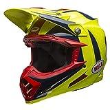 Bell Helmet Moto-9 Flex Vice Blue/Yellow, Größe M