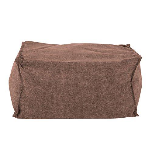 Lounge Pug®, Fußhocker Pouf, Chenillegewebe Schoko -