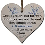 Handmade Wooden Hanging Heart Plaque Gift to Say Sorry You're Leaving You'll be Missed Keepsake for Friend