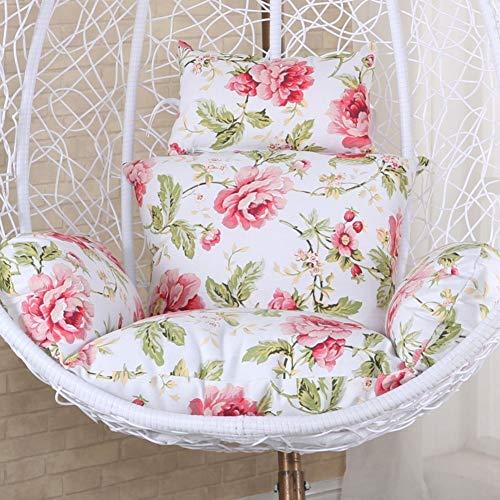 Baumwolle gesteppte große herausnehmbare und aschefähige Hängesessel Sitzkissen für Erwachsene Schaukelstuhl für den Innenbereich Balkon-Pad aus rutschfestem Stuhl Pads Cradle Wicker Stuhlkissen -