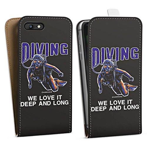 Apple iPhone X Silikon Hülle Case Schutzhülle Taucher Tauchen Diving Downflip Tasche weiß