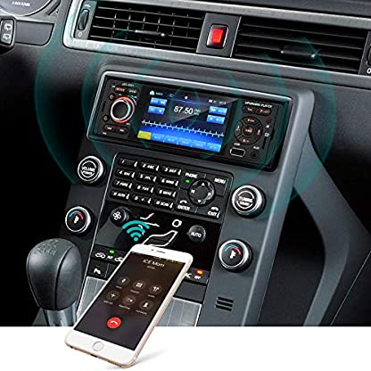 Touchscreen-Autoradio-Bluetooth-MP5-MEKUULA-USBReceiver-mit-Audio-EmpfngerMP5-PlayerUKWFM-Radio-fr-SamsungiPhone-USBTFAUX-Freisprechfunktion-und-integriertes-Mikrofon-PKW-Radio