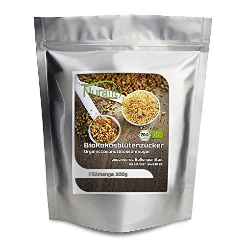 NuraFit BIO Kokosblütenzucker | Natürlicher Zuckerersatz | hoher Nährstoffgehalt | zertifizierte Spitzenqualität (1kg)