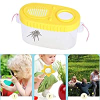 MOGOI Bug Viewer Box, Transparent Insect Catcher Box with 8X Magnifier Insect Observation Box for Girls Boys to View and Collect Insects Closely