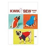 Kwik Sew K4033 Muster, Extra-klein, 8/10/12/14/(DE) klein, 16/große Hunde Mäntel, mehrfarbig