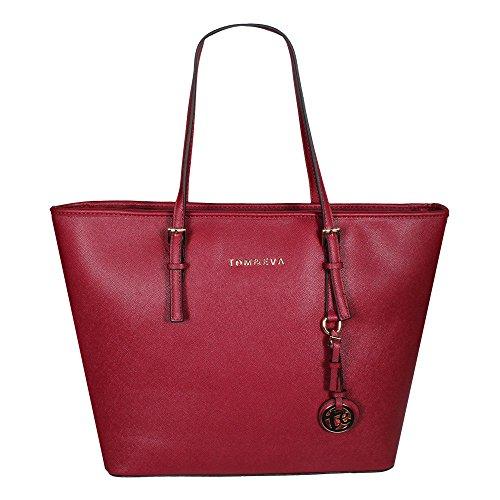 Tom & Eva 6288F TE-Jet Set Travel Damen Handtasche (Farbwahl) Rot