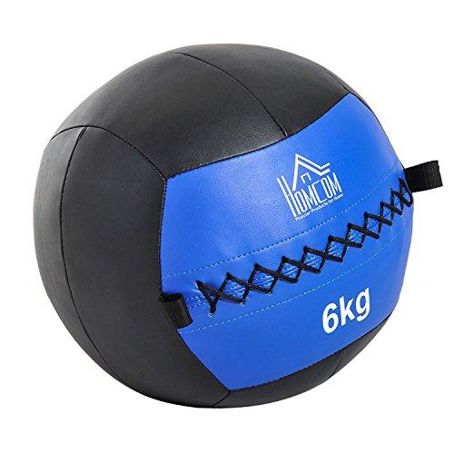 Homcom Balón Medicinal de Crossfit 6Kg con Asas