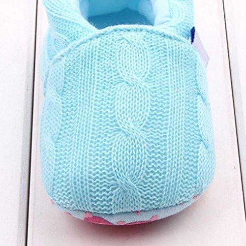 BZLine® Baby Halbschuhe Sneaker rutschfest weiche Sohle Babyschuhe Himmelblau
