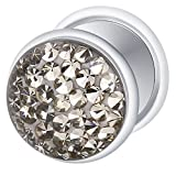 Best body jewelry Fake Diamonds - Fake Cheater Ear Plug Silver Plated, Earring, Body Review