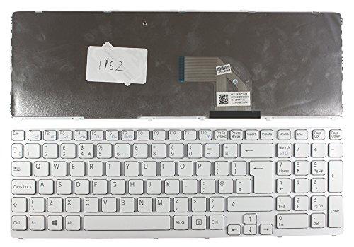 Keyboards4Laptops Vereinigtes Königreich Gestaltung kompatible Ersatz tastatur Weiß Rahmen Weiß Windows 8 Version 2 (Bitte überprüfen Sie das Bild) Für Sony Vaio SVE1513B1EW, Sony Vaio SVE1513B4E, Sony Vaio SVE1513C1EB, Sony Vaio SVE1513C4ESI, Sony Vaio S