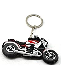 Faynci Royal Enfield Bike Logo Double Sided High Quality Silicone Multicolor Key Chain