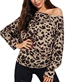 YOINS Women Long Sleeve Baggy Tops Off Shoulder Casual Blouses Cold Shoulder Oversized Pullover Sweatshirt