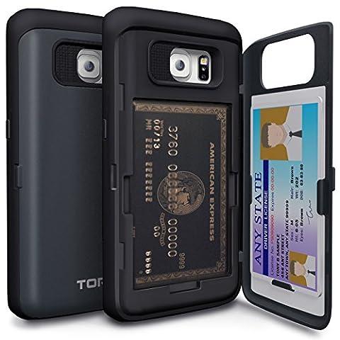 Etui Porte Carte Galaxy S6 - Coque Galaxy S6 Edge, TORU [CX PRO]