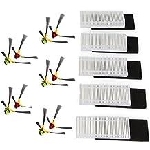 Rojo y verde lado cepillo & Hepa filtro para Ecovacs Deebot Deepoo CEN630 CEN530 cen650 CEN82