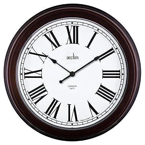 Acctim Towcester 21913 Consett Wall Clock, Antique Black