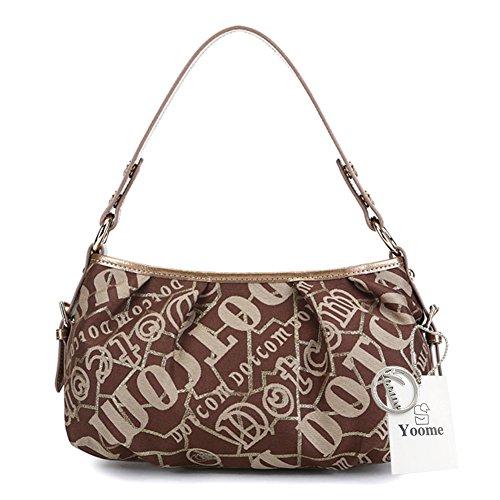 Borse mini Yoome per i sacchetti di tela delle ragazze i nuovi sacchetti eleganti viaggiano i piccoli sacchetti di tela per le donne - azzurro Marrone