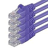 1aTTack - Cable de red UTP con conectores RJ45 (cat. 6) violet - 5 Unidades