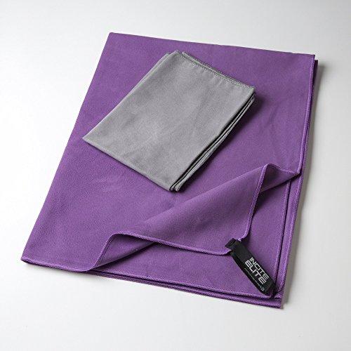 Schnell trocknendes Handtuch mit GRATIS Handhandtuch & lebenslanger Garantie -schnelltrocknendes reisehandtuch - Schnell trocknendes superabsorbierendes Mikrofaserhandtuch, passend als Sporthandtuch, Yogahandtuch, Handtuch für das Fitnessstudio & Reisehandtuch