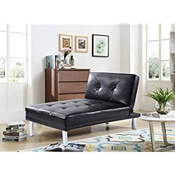 WestWood Modern Luxury Chaise Longue Single Sofa Bed 1 Seater Couch Small  Guest Sleeper Convertible Chair