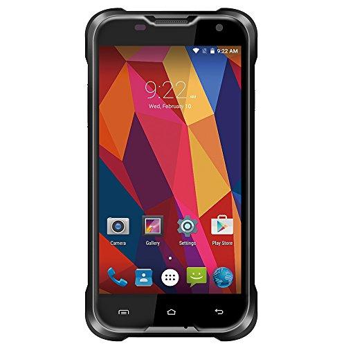Creev Mark V Tough 4G LTE Smartphone 5 pollici schermo LCD IPS HD 1280x720 Quad Core MTK6735 1,0GHz 2GB di RAM 16GB ROM Camera 5MP 13 MP 4700mAh Bluetooth GPS FM Android 6 Sim impermeabile IP65 telefono mobile sbloccato Sim Free (nero)