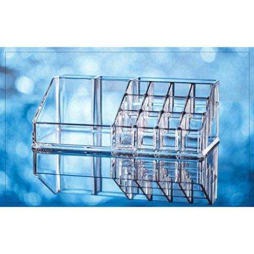 PIXNOR Acrylique Présentoir Supports Boîte Organisateur de Cosmétique Bijoux - Transparent